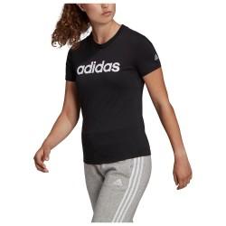 Adidas Essentials Linear Αθλητικό Γυναικείο T-shirt Λευκό με Στάμπα